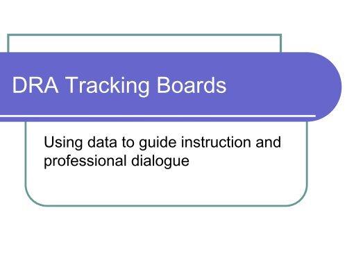 DRA Data Walls and PLC Dialogue