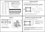Lezioni sulle relazioni statistiche - Dipartimento di Economia e ...