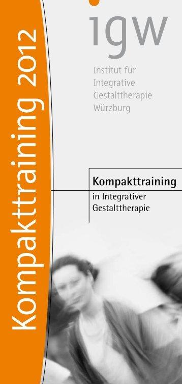 Kompakttraining - Institut für Integrative Gestalttherapie GmbH