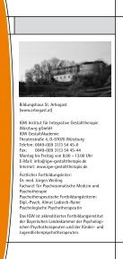 Kompakttraining - Institut für Integrative Gestalttherapie GmbH - Page 2