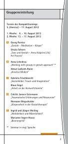 Kompakttraining - Institut für Integrative Gestalttherapie GmbH - Page 5