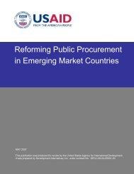 Reforming Public Procurement in Emerging Market ... - KDID Portal