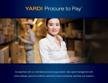 YARDI Procure to Pay™ - Yardi Systems