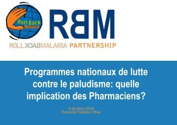 Programmes nationaux de lutte contre le paludisme ... - ReMeD