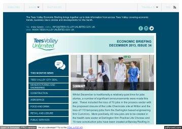 ECONOMIC BRIEFING DECEMBER 2013, ISSUE 34