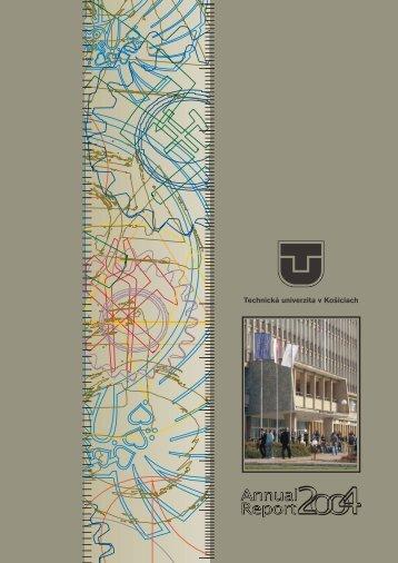 Annual Report 2004 - slovenská verzia (pdf - 7,5MB) - TUKE