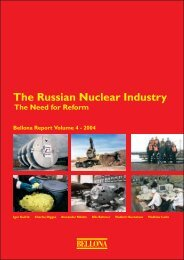 The Russian Nuclear Industry - Bellona