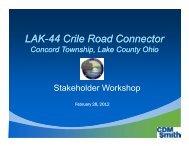 LAK-44 Crile Road Connector Concord Township, Lake County Ohio