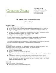 The how and why of writing a college essay - College Goals