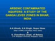 arsenic contaminated aquifers - Harvard University Department of ...