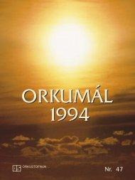 Orkumál nr. 47 - 1994 - Orkustofnun