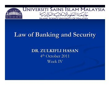 Banker's Rights and Duties