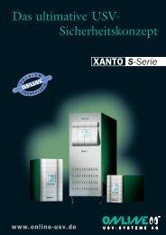 Datenblatt XANTO S-Serie - Online USV Systeme