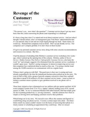 the customer revenge