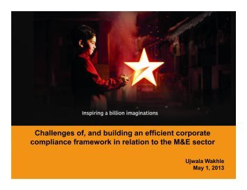 Challenges of, and building an efficient corporate compliance ...