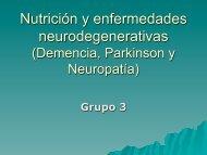 Nutrición y enfermedades neurodegenerativas (Demencia ...