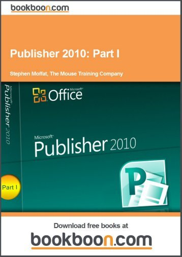 Publisher 2010: Part I