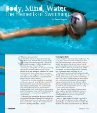 Body, Mind, Water: The Elements of Swimming