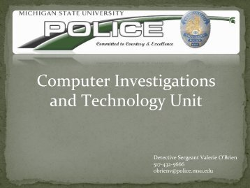 Computer Investigations and Technology Unit - IT Services