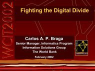 Fighting the Digital Divide - WITSA