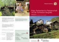 Enjoy Switzerland in Partnerschaft mit der ... - Berggebiete.ch