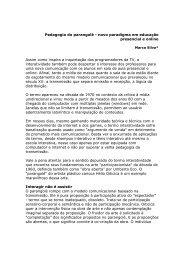 Pedagogia do parangolé - novo paradigma em educação ...