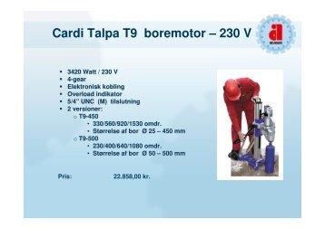 Special boremotorer - Carat Tools