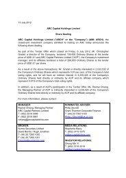 Share Dealing - ARC Capital Holdings Ltd
