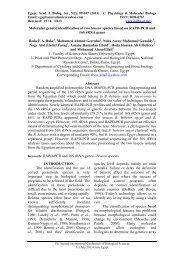 Molecular genetic identification of two bracon species based on ...