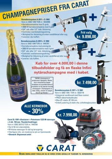 CHAMPAGNEPRISER FRA CARAT - 30% - Carat Tools
