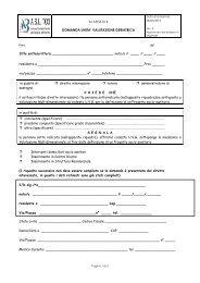Modulo per la domanda all'unità valutazione geriatrica - ASL TO3
