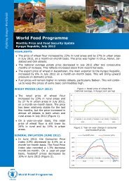 Monthly Price and Food Security Update - WFP Remote Access ...