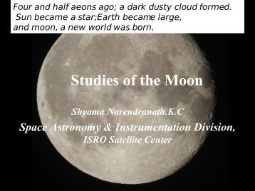 X ray studies of the Moon