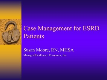 Case Management - Institute for Health Care Studies (IHCS)
