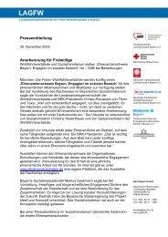 Pressemitteilung Anerkennung für Freiwillige - LAGFW Bayern