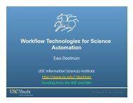 Workflow Technologies for Science Automation - Pegasus
