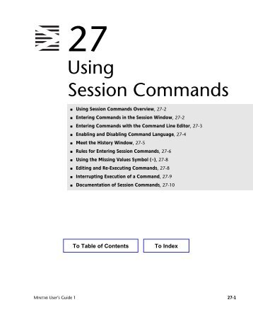 Using Session Commands