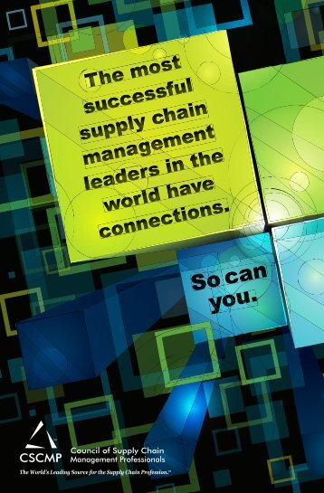 informational brochure - Council of Supply Chain Management ...