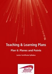 Teaching & Learning Plan 6: Planes and Points - Project Maths