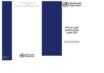 WHO air quality guidelines global update 2005, Report on a Working