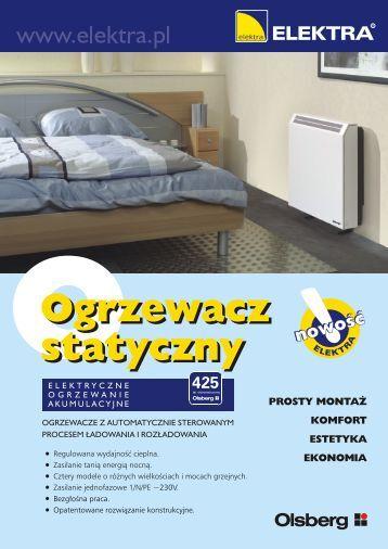 Olsberg Ogrzewacze Statyczne Ulotka - SystemyGrzejne.pl