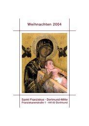 Weihnachten 2004 - St. Franziskus Kirche