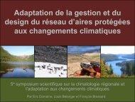 Adaptation aux changements climatiques et adaptation ... - Ouranos