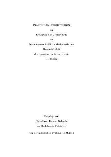 INAUGURAL - DISSERTATION zur Erlangung der Doktorwürde der ...