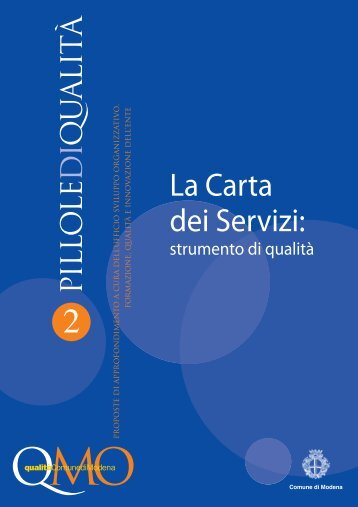 La Carta dei Servizi: - Comune di Modena