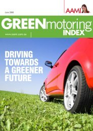 AAMI Green Motoring Index 2008