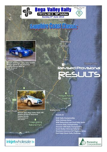RESULTS - Bega Valley Rally