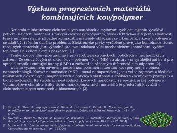 Výzkum progresivních materiálů kombinujících kov/polymer - UJEP