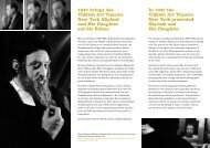 In 1947 the Yiddish Art Theatre New York presented Shylock and ...