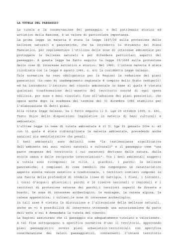 Tutela del paesaggio - Provincia di Viterbo